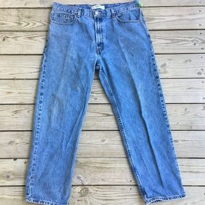 Mens Levis 550 Relaxed Fit Blue Jeans size 40 x 32